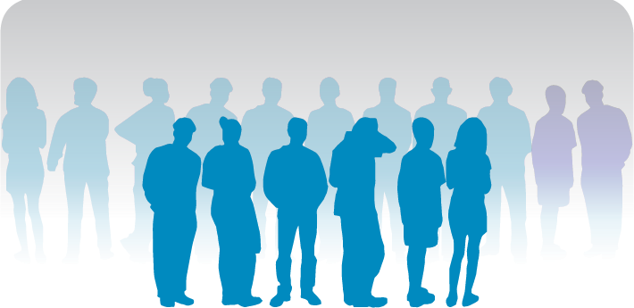 Silhouettes of patients
